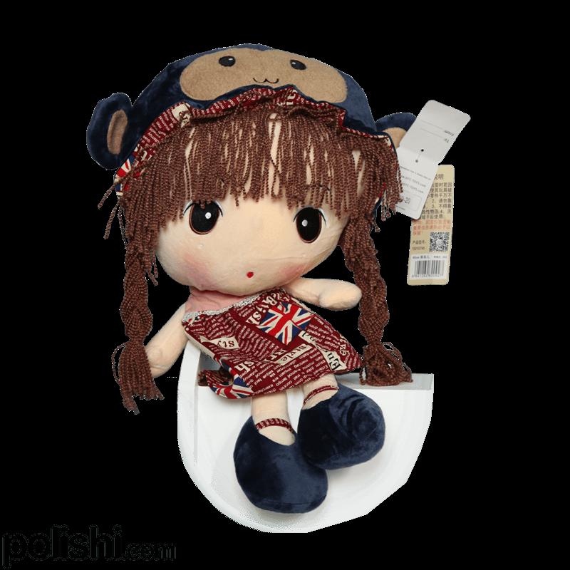 عروسک دختر کلاه میمونی