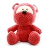 تصویر عروسک پولیشی خرس نوفز قرمز رنگ