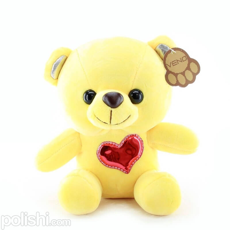 تصویر عروسک خرس زود با قلب قرمز