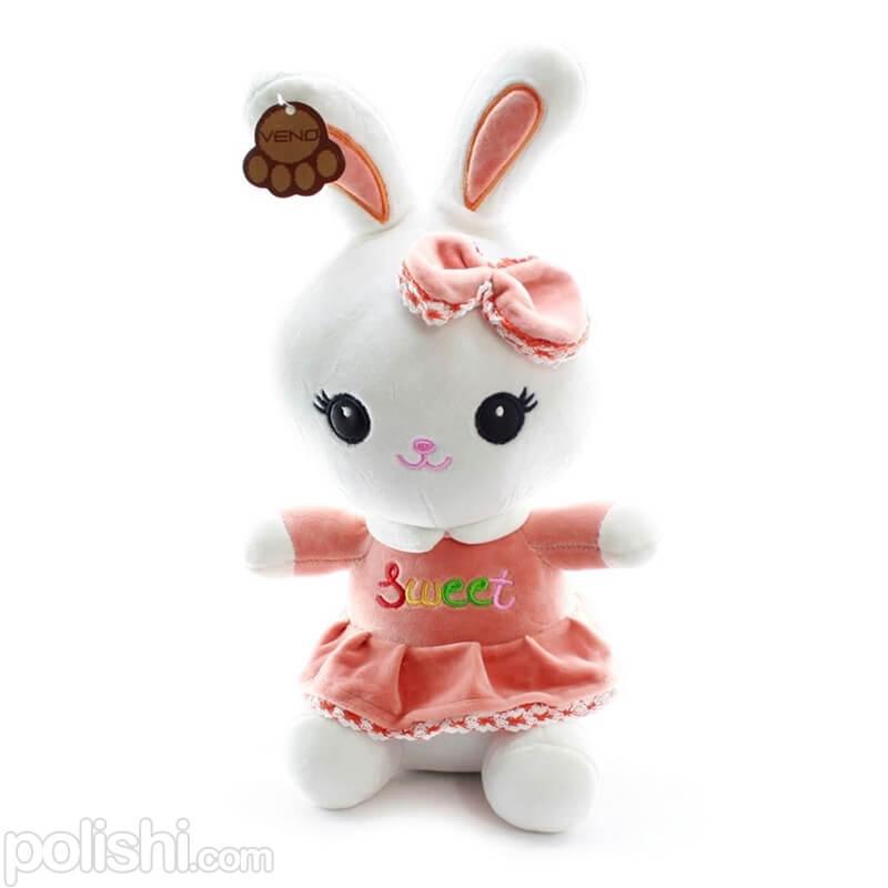 تصویر عروسک بچه خرگوش پولیشی مژه بلند