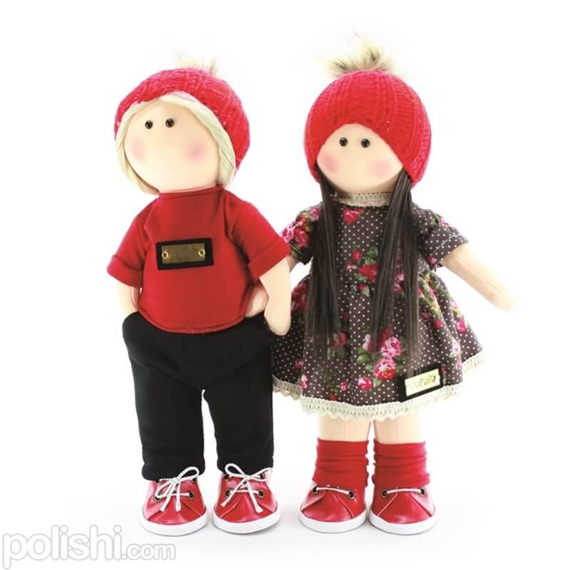دو عروسک دختر پسر سپنتا ست قرمز