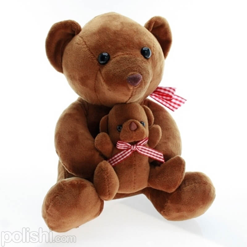 تصویر عروسک خرس و بچه خرس