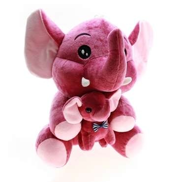 تصویر عروسک فیل و بچه فیل