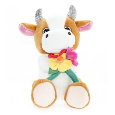 تصویر عروسک گاو گل دار