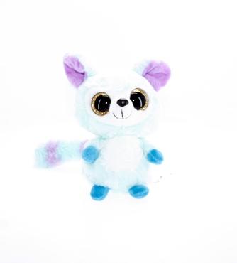 تصویر عروسک بچه روباه آبی چشم تیله ای TY