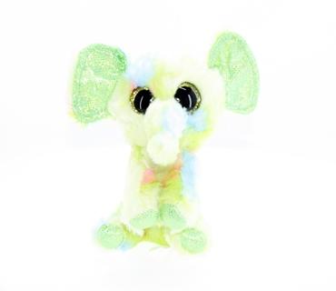 تصویر عروسک بچه فیل سبز چشم تیله ای TY