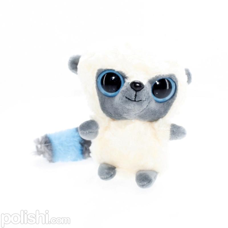 تصویر عروسک بچه میمون سفید چشم تیله ای TY